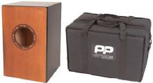 Performance Percussion PP144 Cajon - Black / Varnish incl. Padded Carry Bag